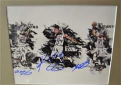 Kobe Autograph Lebron James Sign Kevin Durant sign