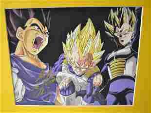 Dragon Ball Z Autograph Canvas Print DBZ Sign Canvas P