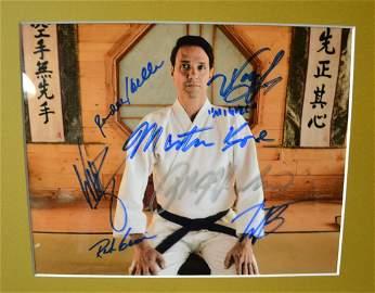 Cobra Kai Autograph Cast Photo , Cobra Kai Sign Photo