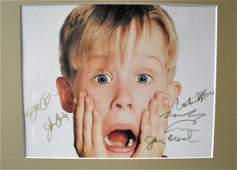 Home Alone Cast Autograph Photo , Home Alone Signed Pho