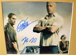fast and furious autograph Paul Walker Photo , vin dese