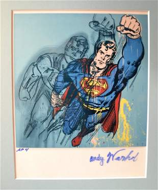 Andy Warhol Superman Autograph transparency film Photo