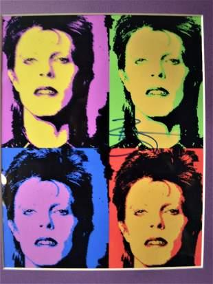 Andy Warhol David Bowie Autograph Film Photo