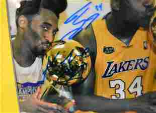 Kobe Bryant Autograph Photo, Shaq Autograph lakers