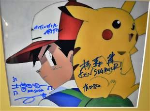 Pokemon Autograph Photo , Pokemon Sign Photo . pokemon