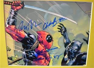 DeadPool Autograph Photo, Black panther Autograph photo