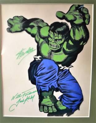 Hulk Autograph Stan Lee Sign Photo jack kirby