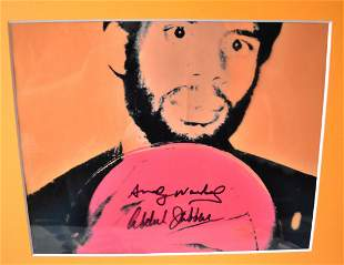 Andy Warhol Abdual Jabbar Autograph Photo
