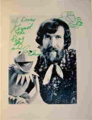 Jim Henson Autograph Muppet , jim henson kermit frog