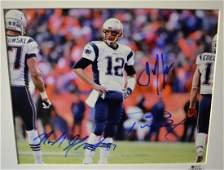 Tom Brady Autograph Photo , New England Patriots Sign