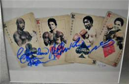 the four Kings Autograph Boxing , M Hagler , S Ray Leno