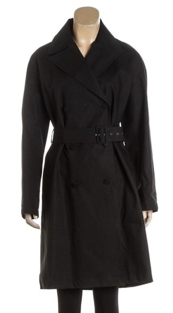 ALAÃA Black Cotton Coat