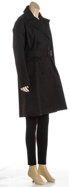 ALAÃA Black Cotton Coat - 3