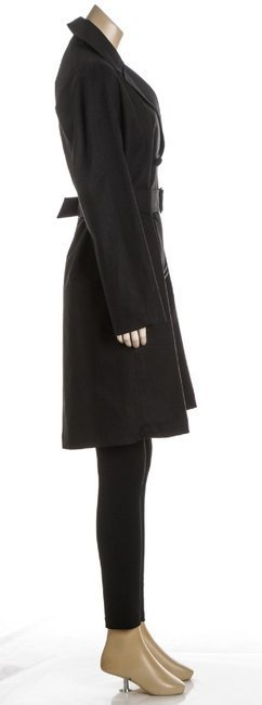 ALAÃA Black Cotton Coat - 4