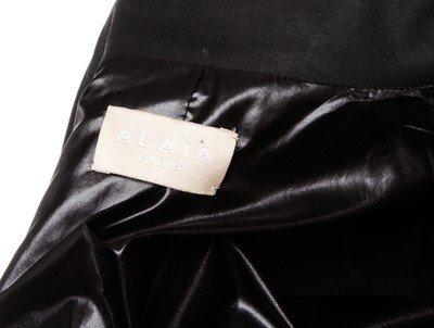 ALAÃA Black Cotton Coat - 8