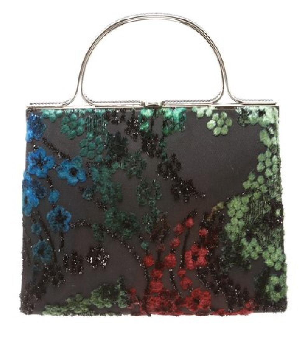 Judith Leiber Black Satin Bag