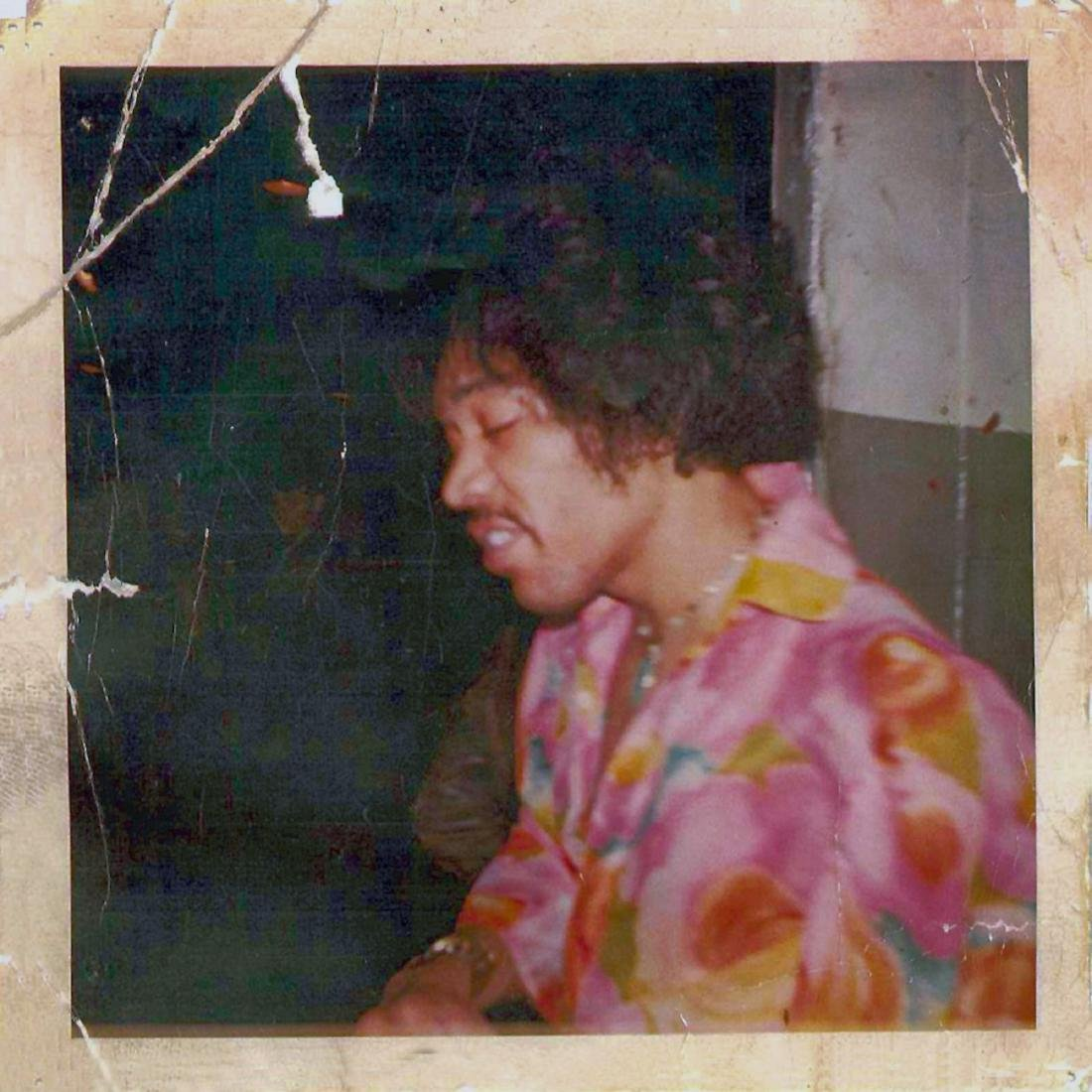 Jimi Hendrix tripping on LSD Polaroid  NYC 1967.  This