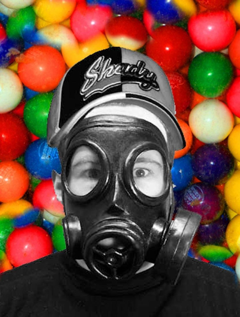 Eminem in Gas Mask