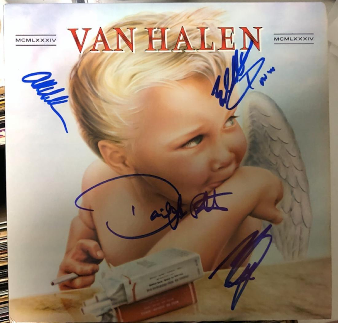Signed Van Halen 1984