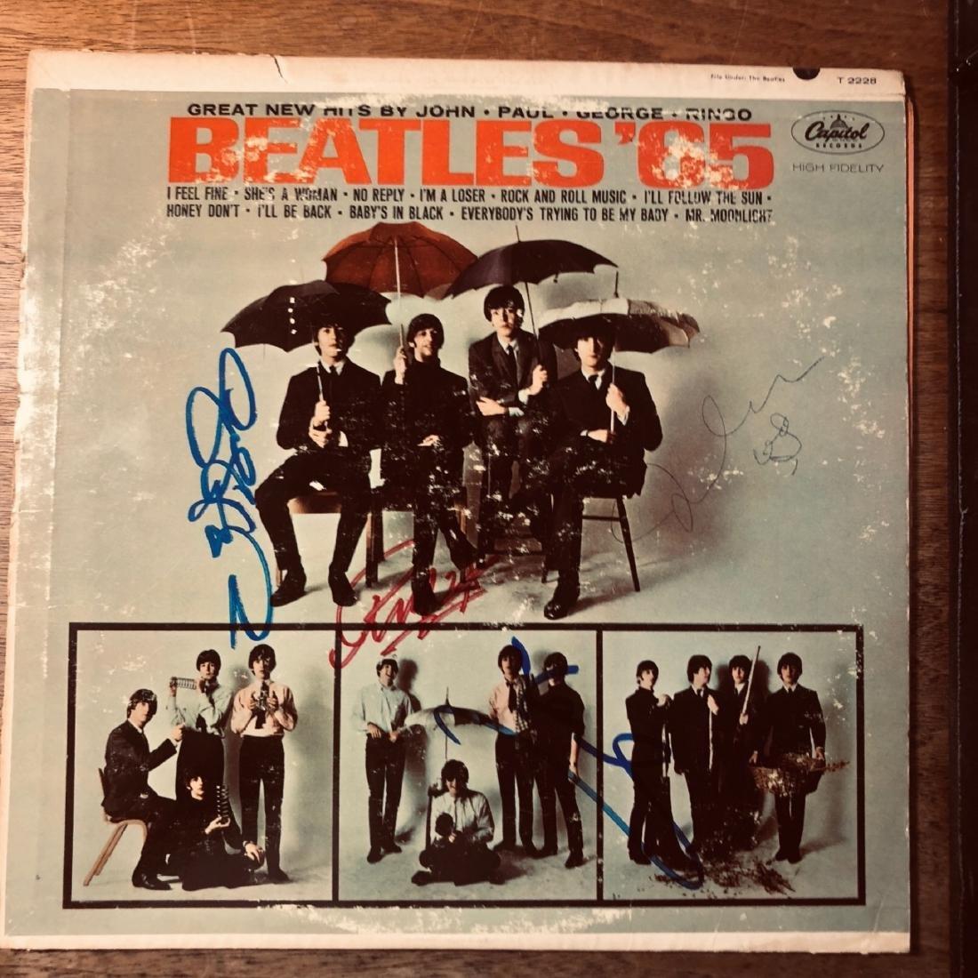 Signed Beatles 65 Album
