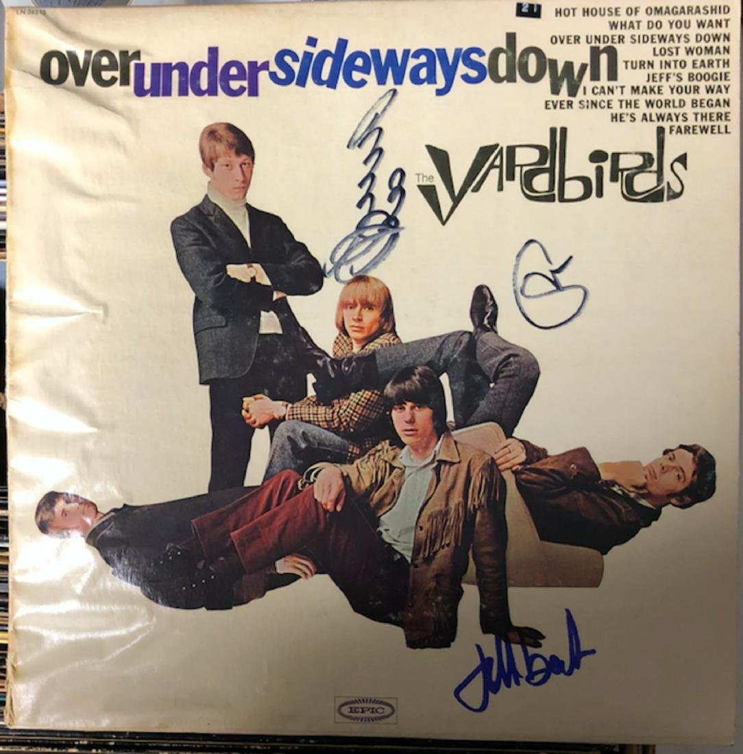 Signed Yardbirds Over Under Album