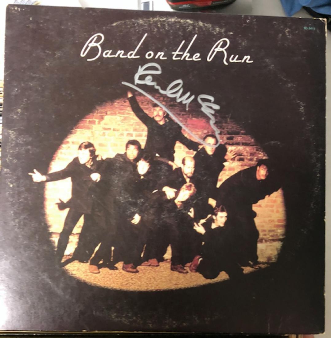 Signed Paul McCartney Band on The Run