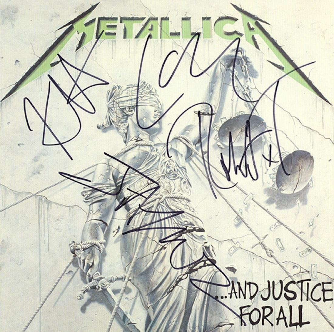 Signed Metallica And Justice For All Album