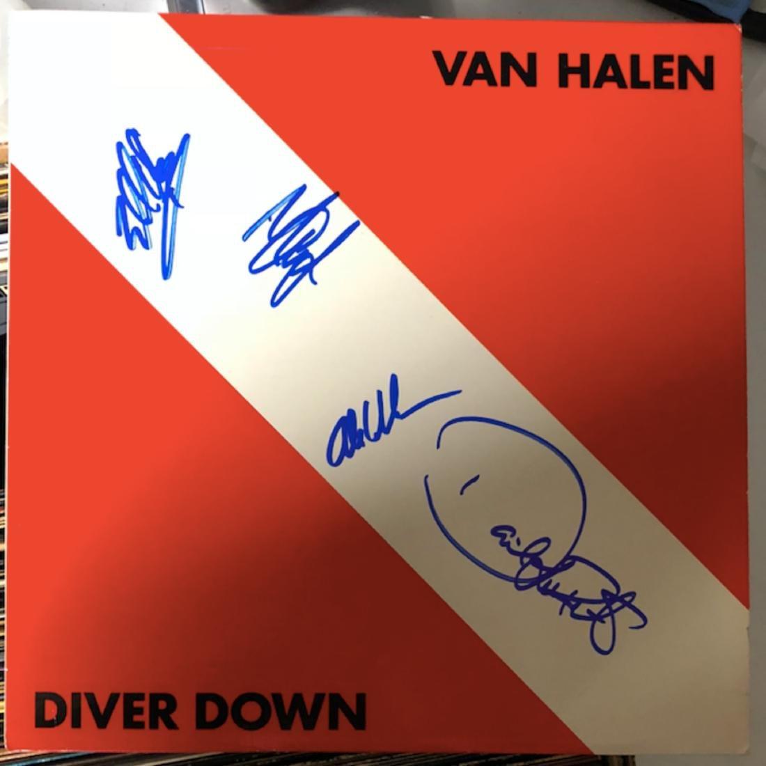 Signed Van Halen Diver Down