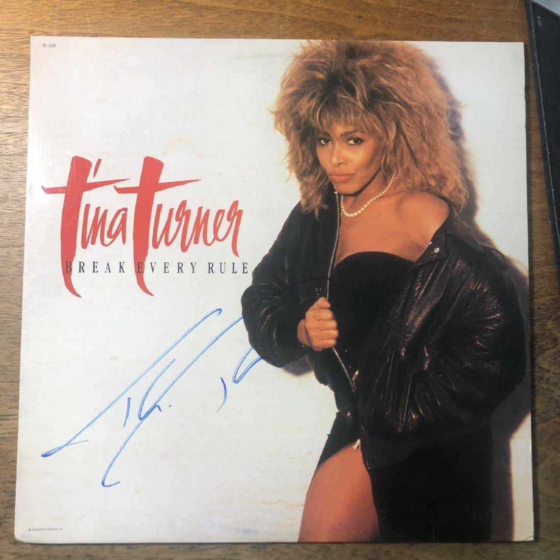 Signed Tina Turner Break All The Rules Album