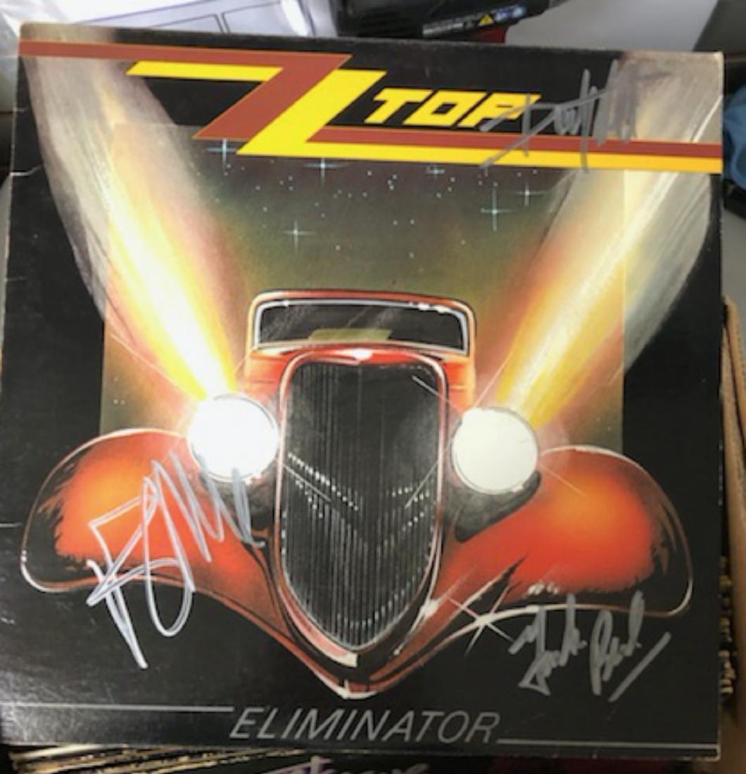 Signed ZZ Top Eliminator Album
