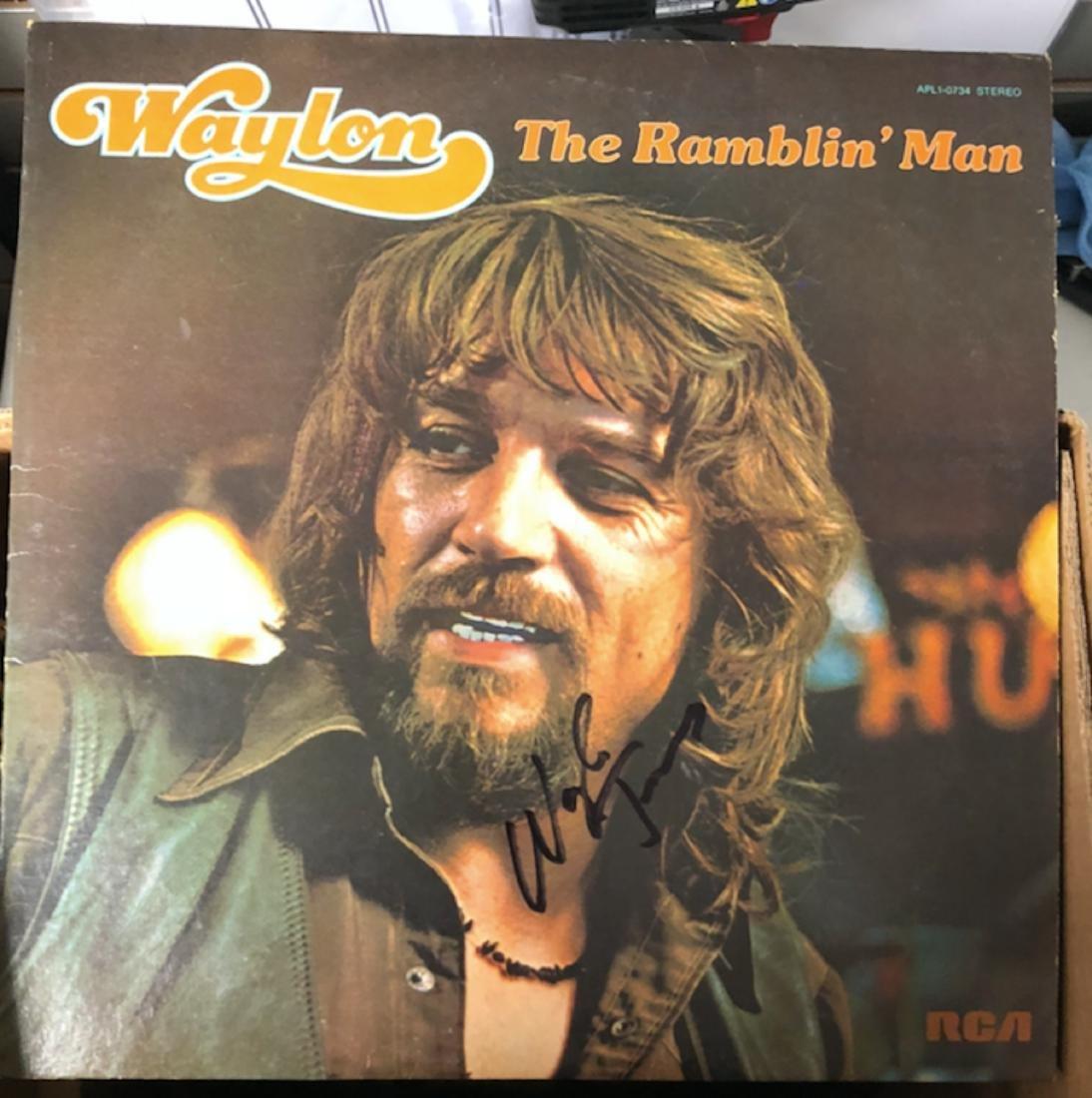 Signed Waylon Jennings Rambling Man