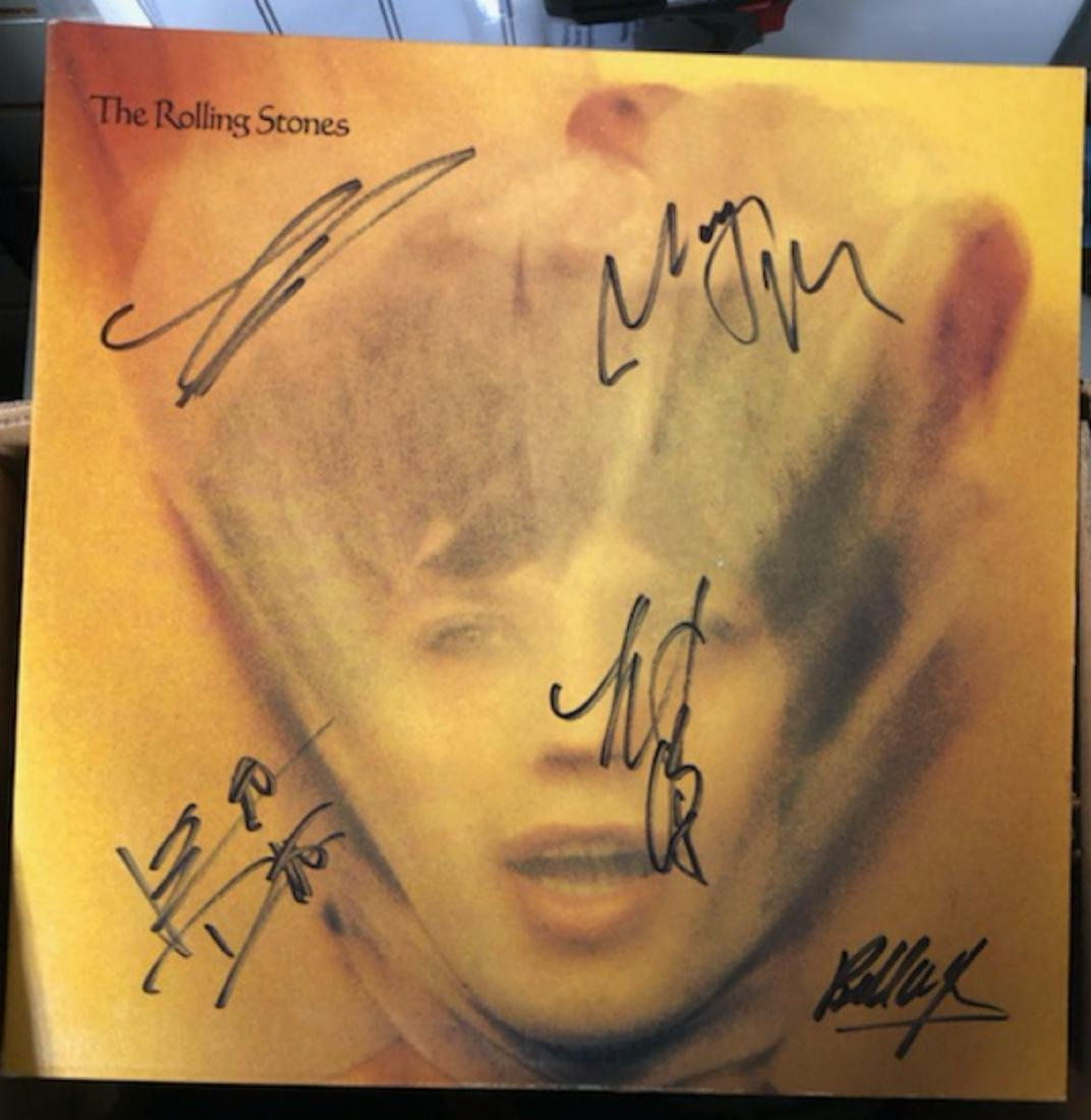 Signed Rolling Stomes Goats Head Soup