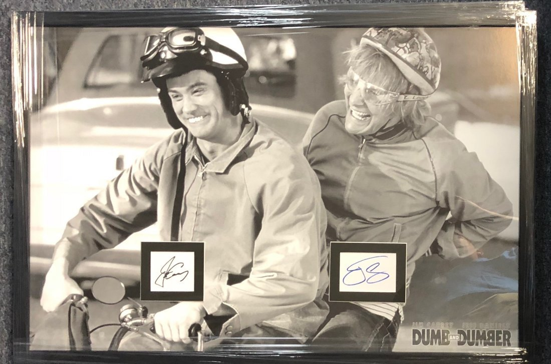 Signed Dumb and Dumber Poster