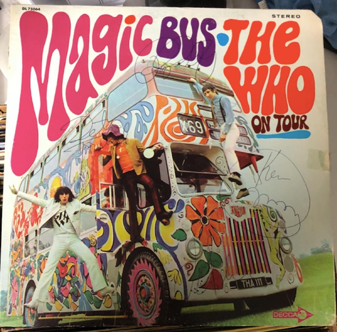 Signed Who Magic Bus Album