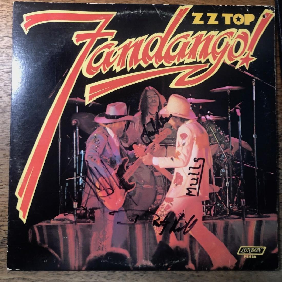 Signed ZZ Top Fandango Album