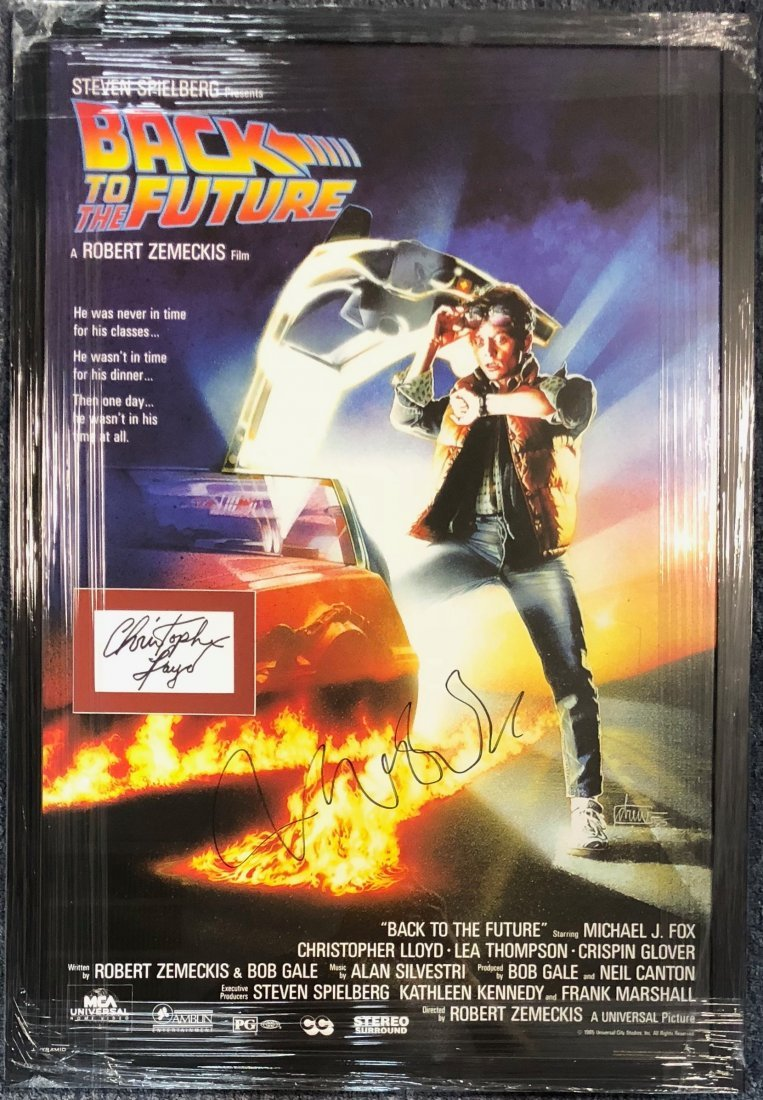 Signed Back To The Future Poster