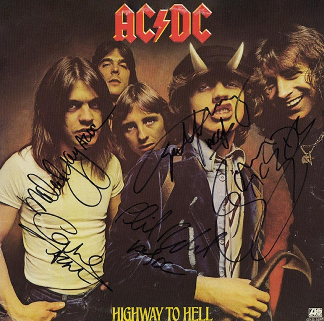 Signed AC/DC Highway To Hell Album - Bon Scott
