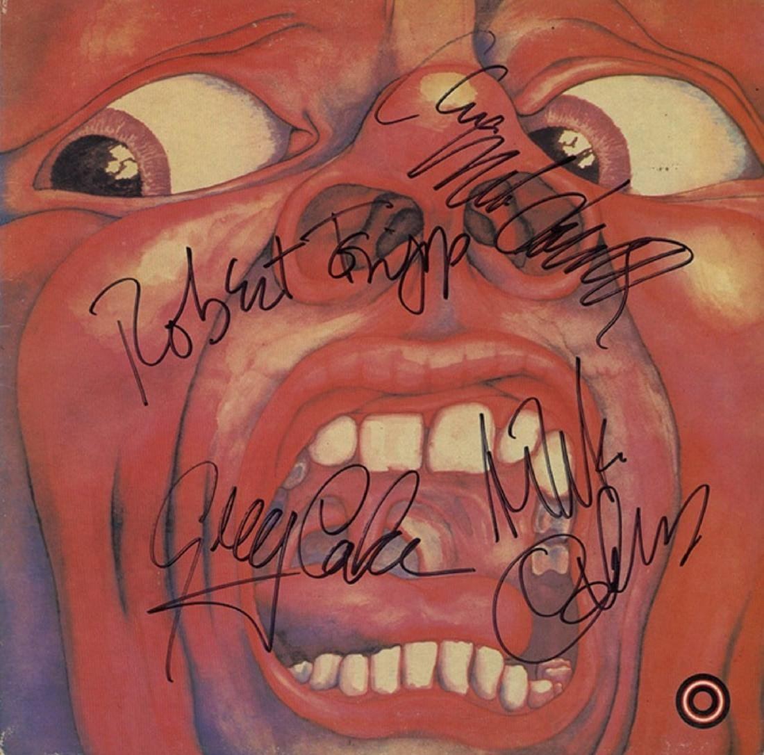 King Crimson Band Signed In the Court of the Crimson