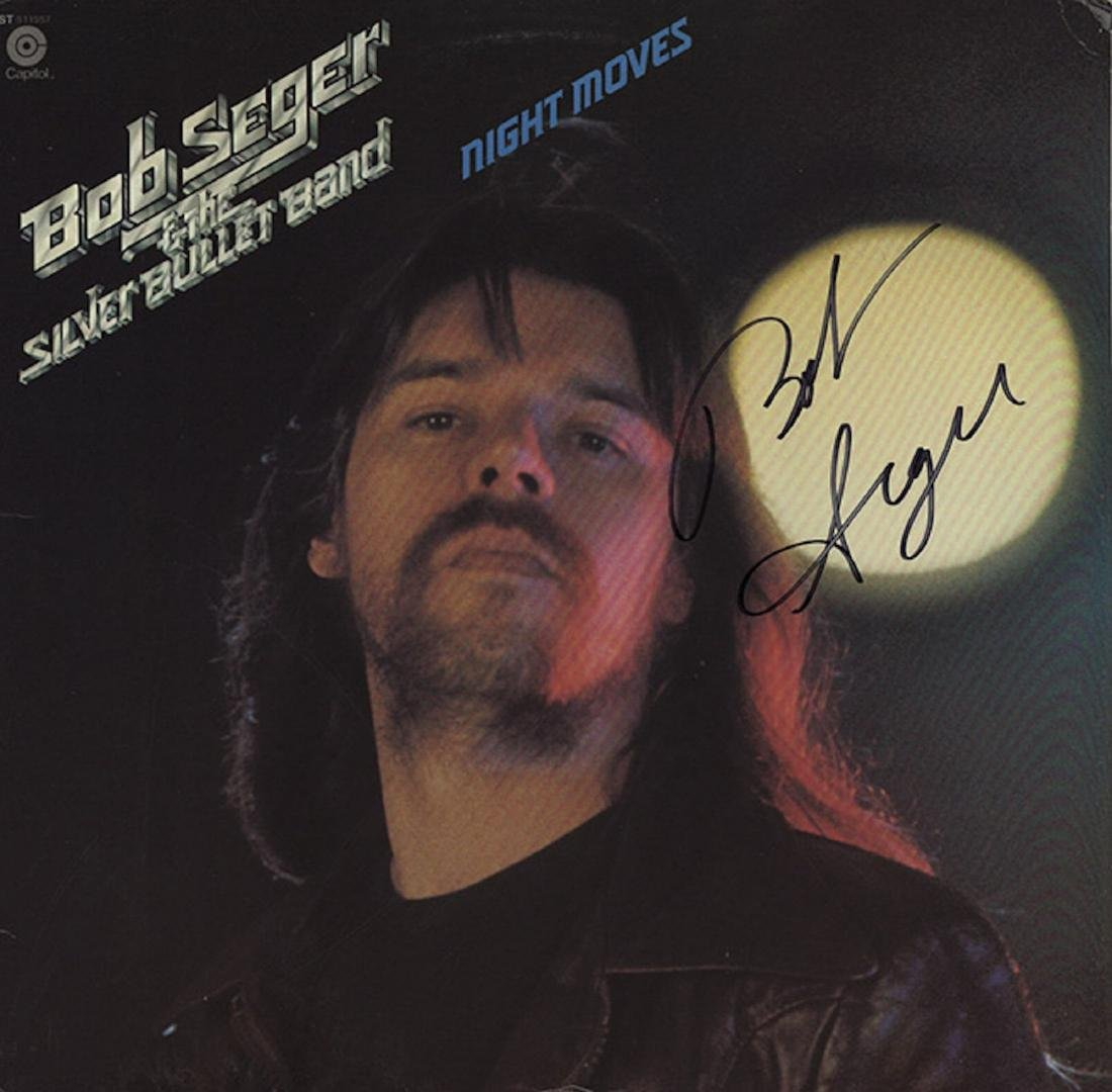 Signed Bob Seger Night Moves Album