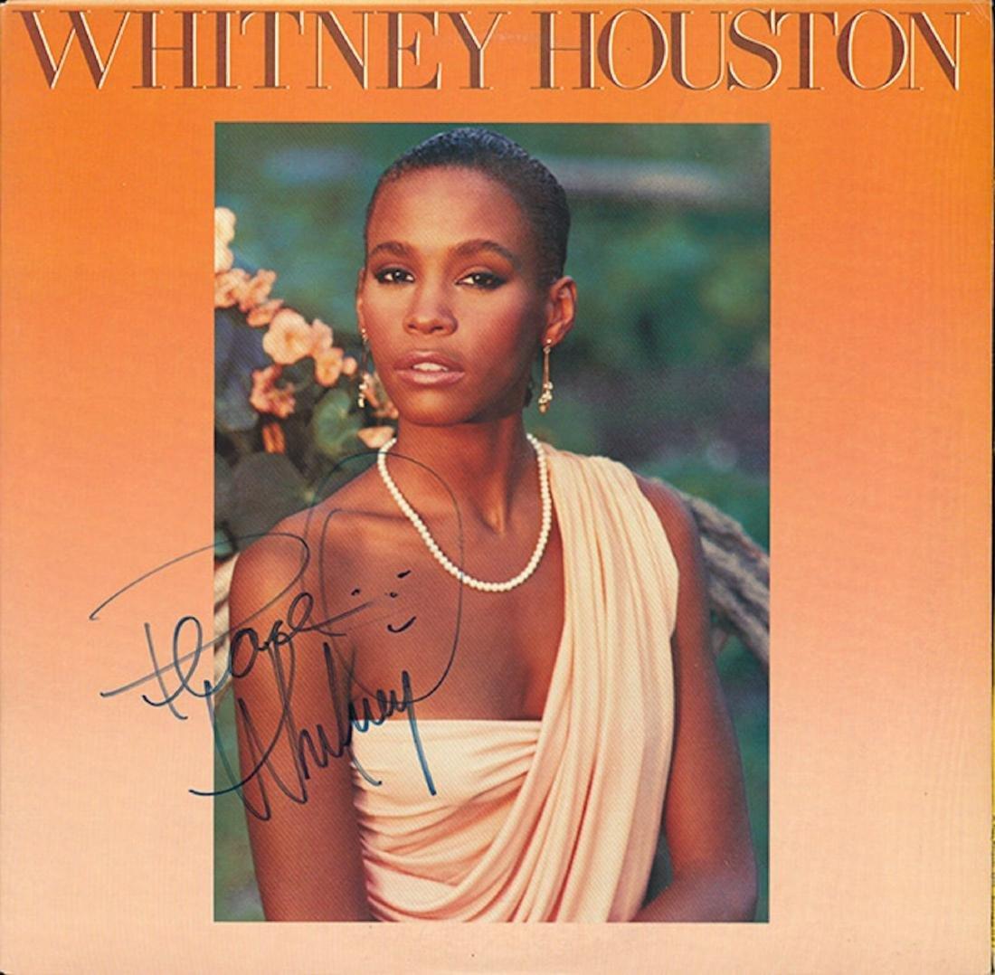 Signed Whitney Houston Self Titled Album
