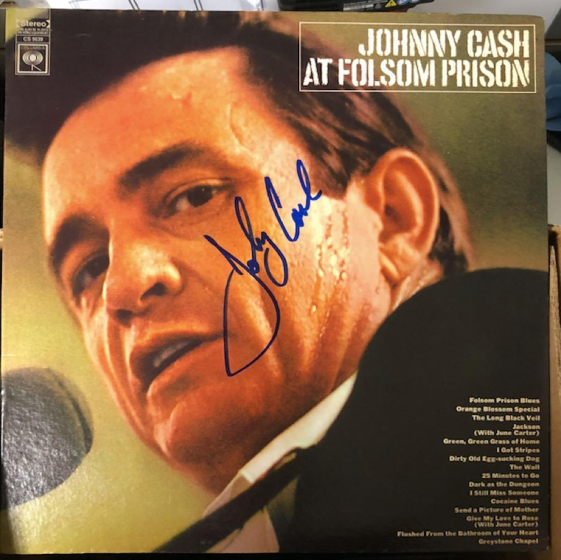 Signed Johnny Cash Folsom Prison
