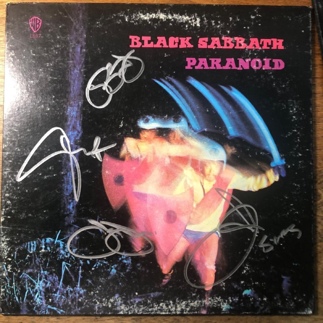 Signed Black Sabbath Paranoid Album