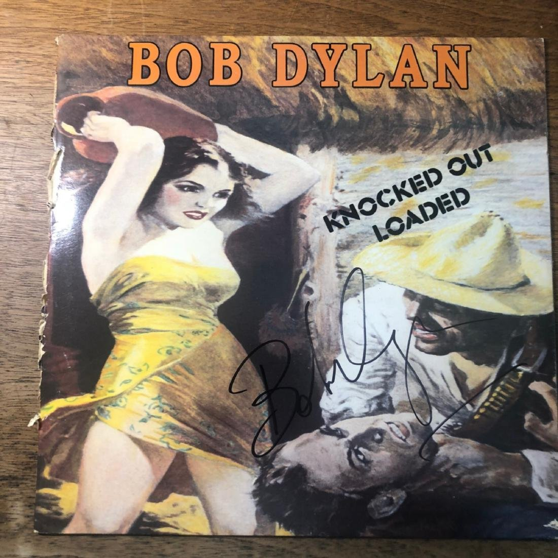 Signed Bob Dylan Knocked Out And Loaded Album
