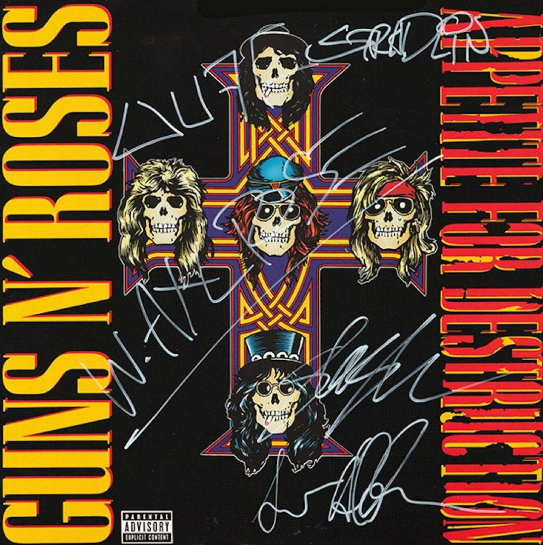 Signed Guns N Roses Appetitie For Destruction Album