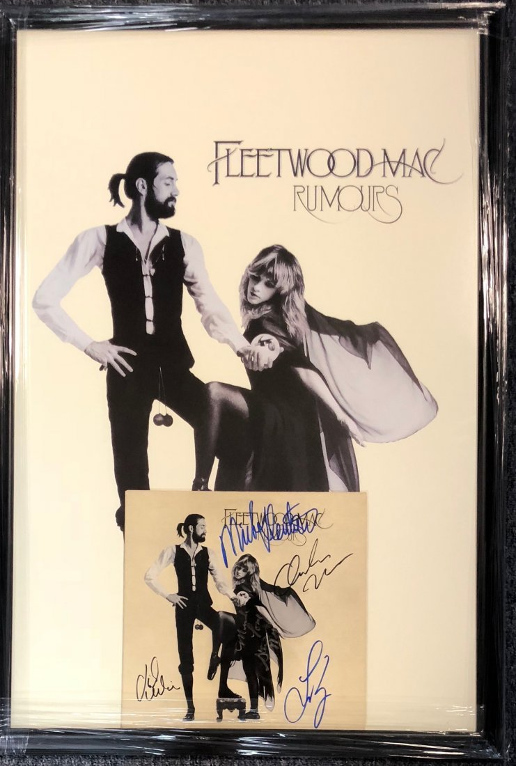 Signed Framed Fleetwood Mac Rumors