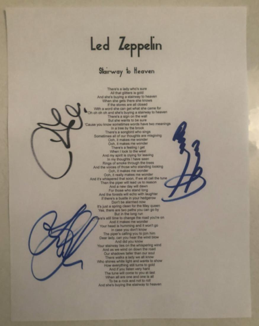 Signed Stairway To Heave Lyrics
