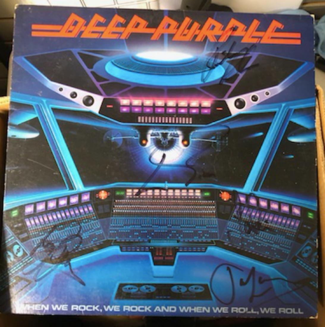 Signed Deep Purple When We Rock