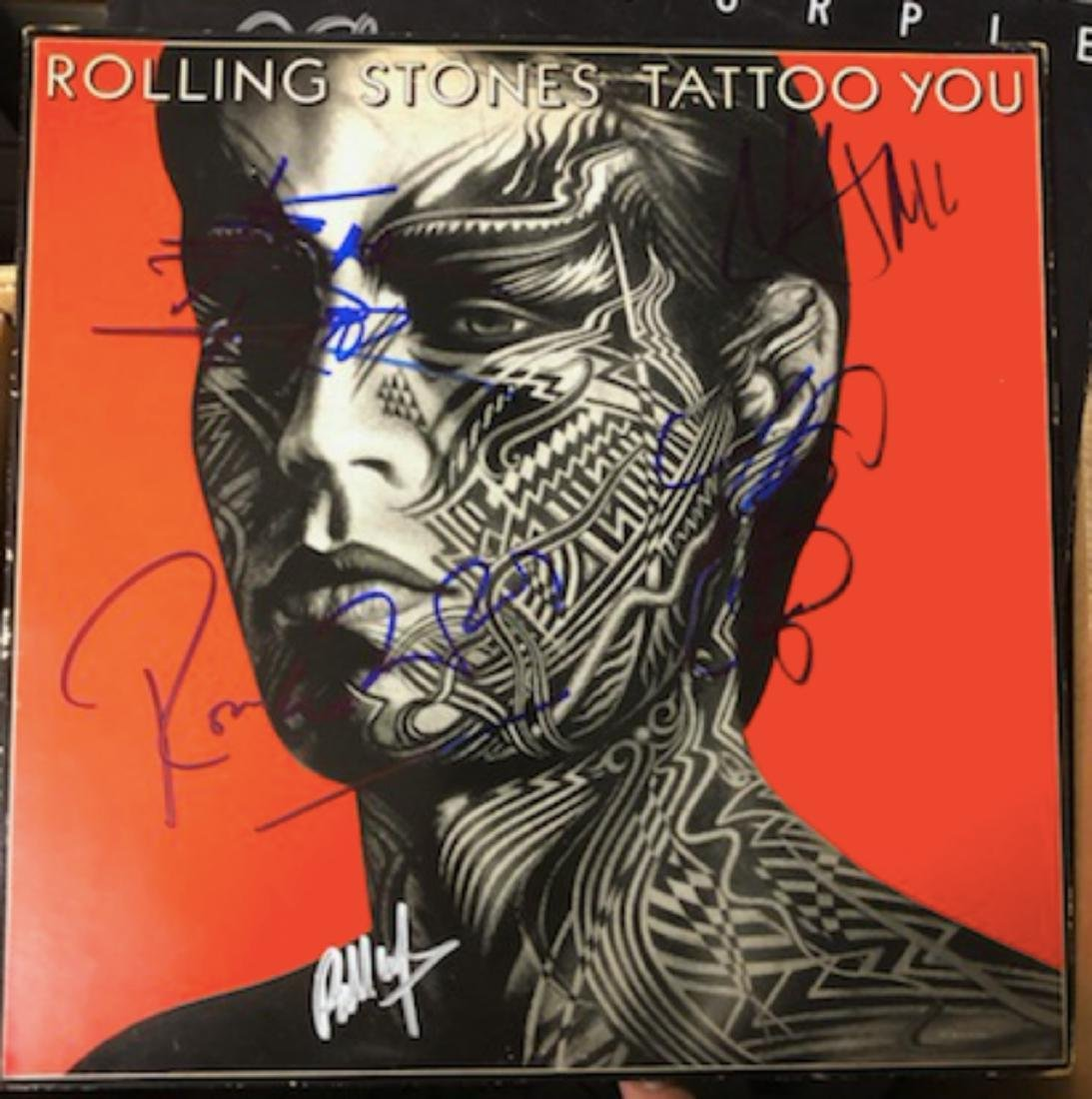 Signed Rolling Stones Tattoo You
