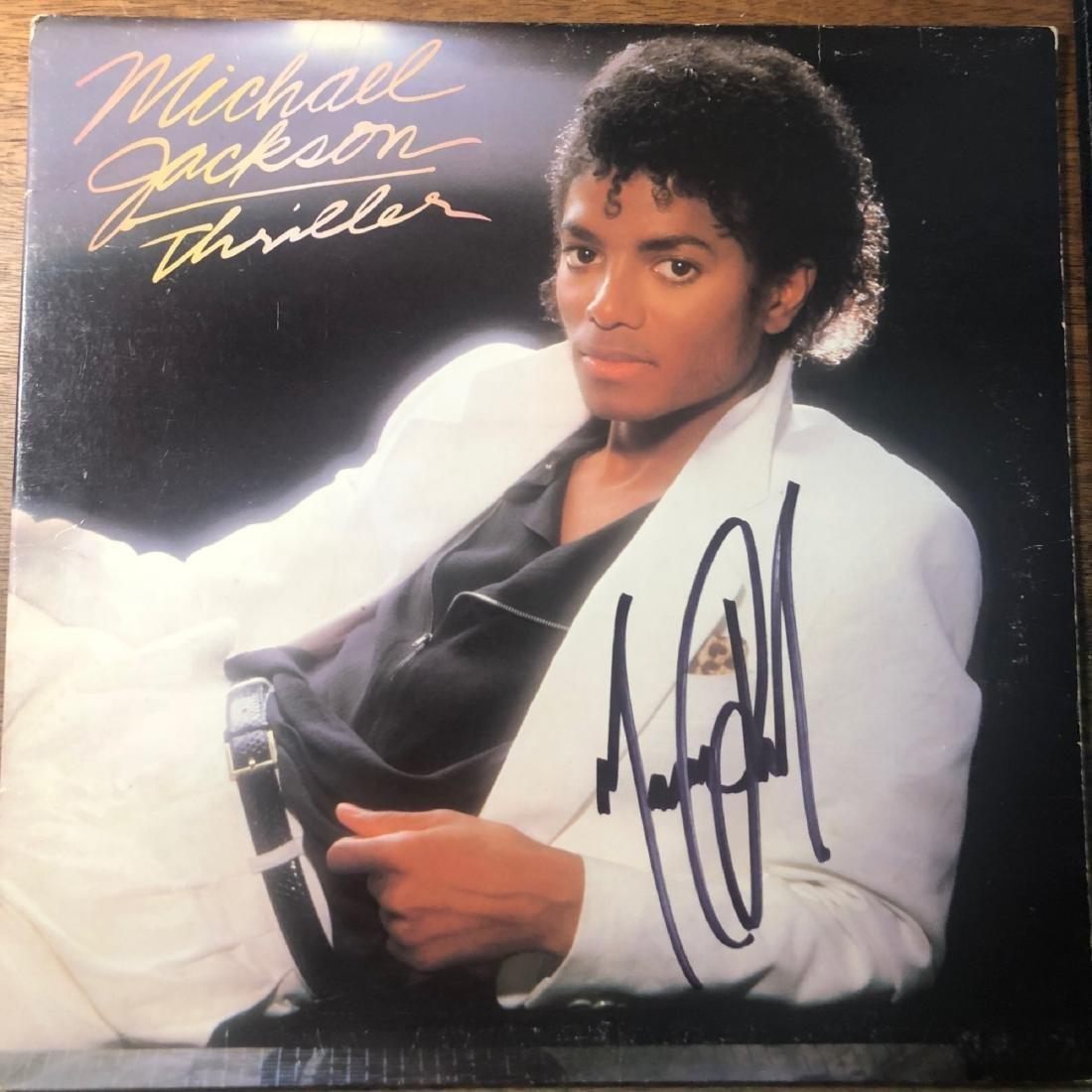 Signed Michael Jackson Thriller Album