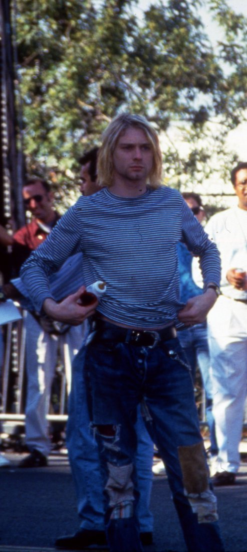 Kurt Cobain w/Baby Bottle 1993